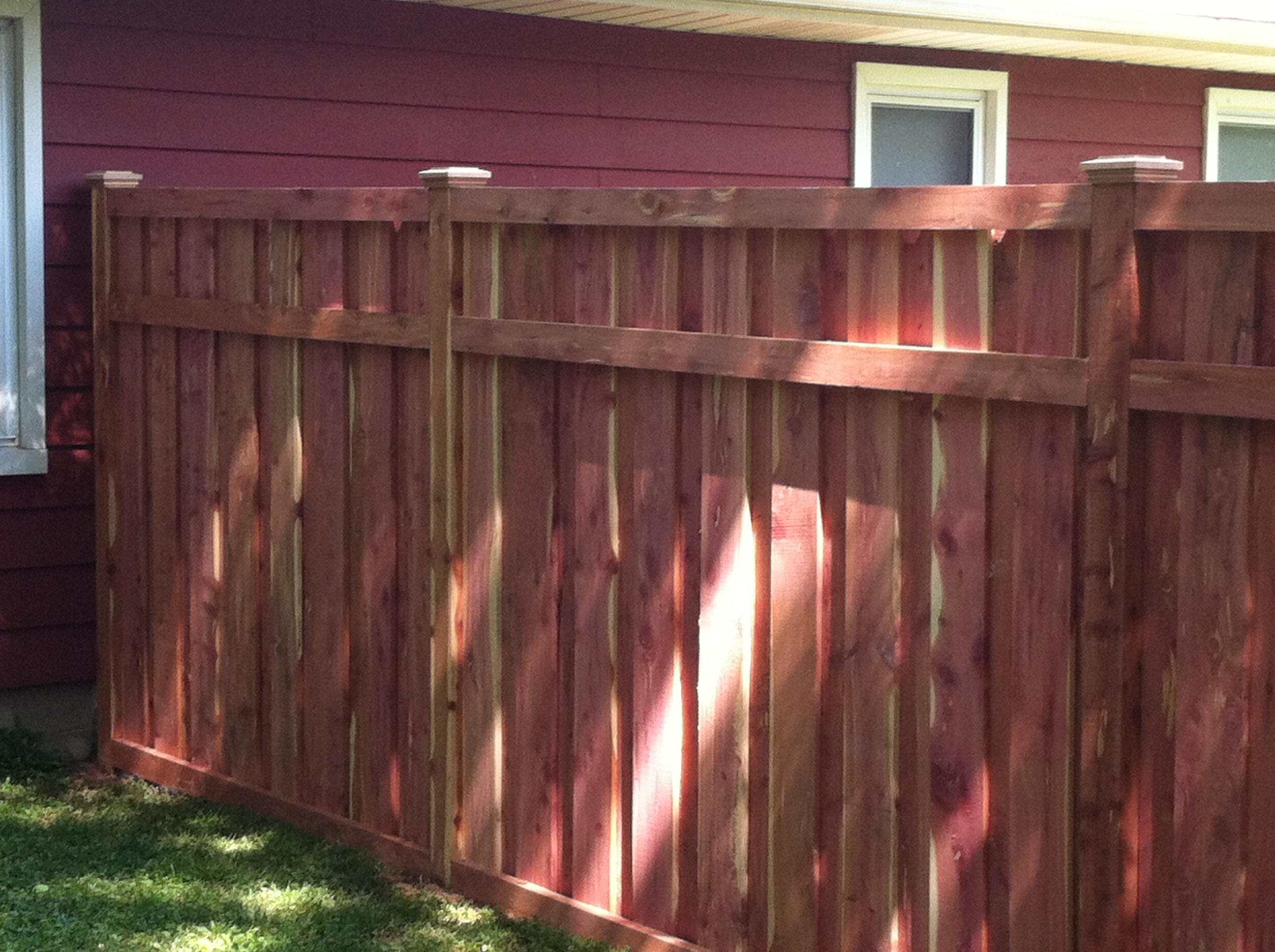 Allstar fence portfolio 6ft 3 rail eastern red cedar wood privacy fence baanklon Gallery