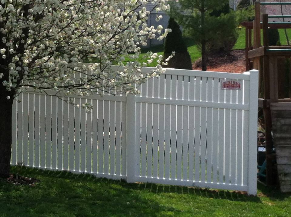 fence 6ft. 6ft Tall White Vinyl SemiPrivacy Fence D